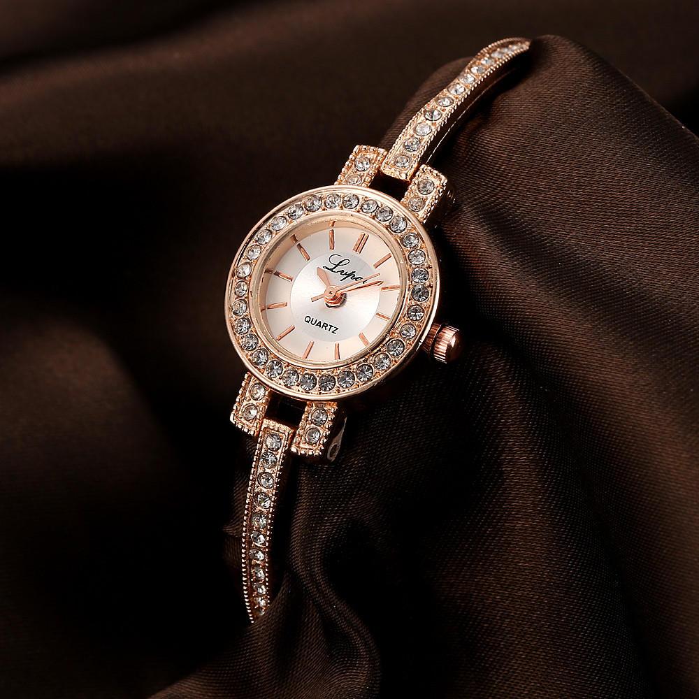 LVPAI P117 Fashion Style Crystal Elegant Women Wrist Watch