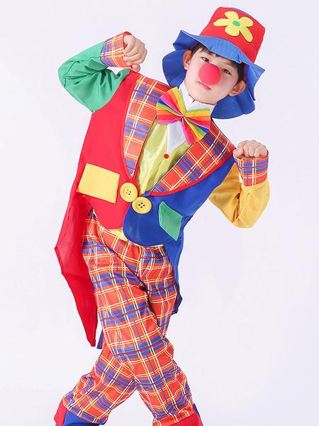 Milanoo Carnaval Circo Disfraz Rojo Unisex Pantalones Conjunto de camisa Poliester Disfraces de Halloween para fiestas