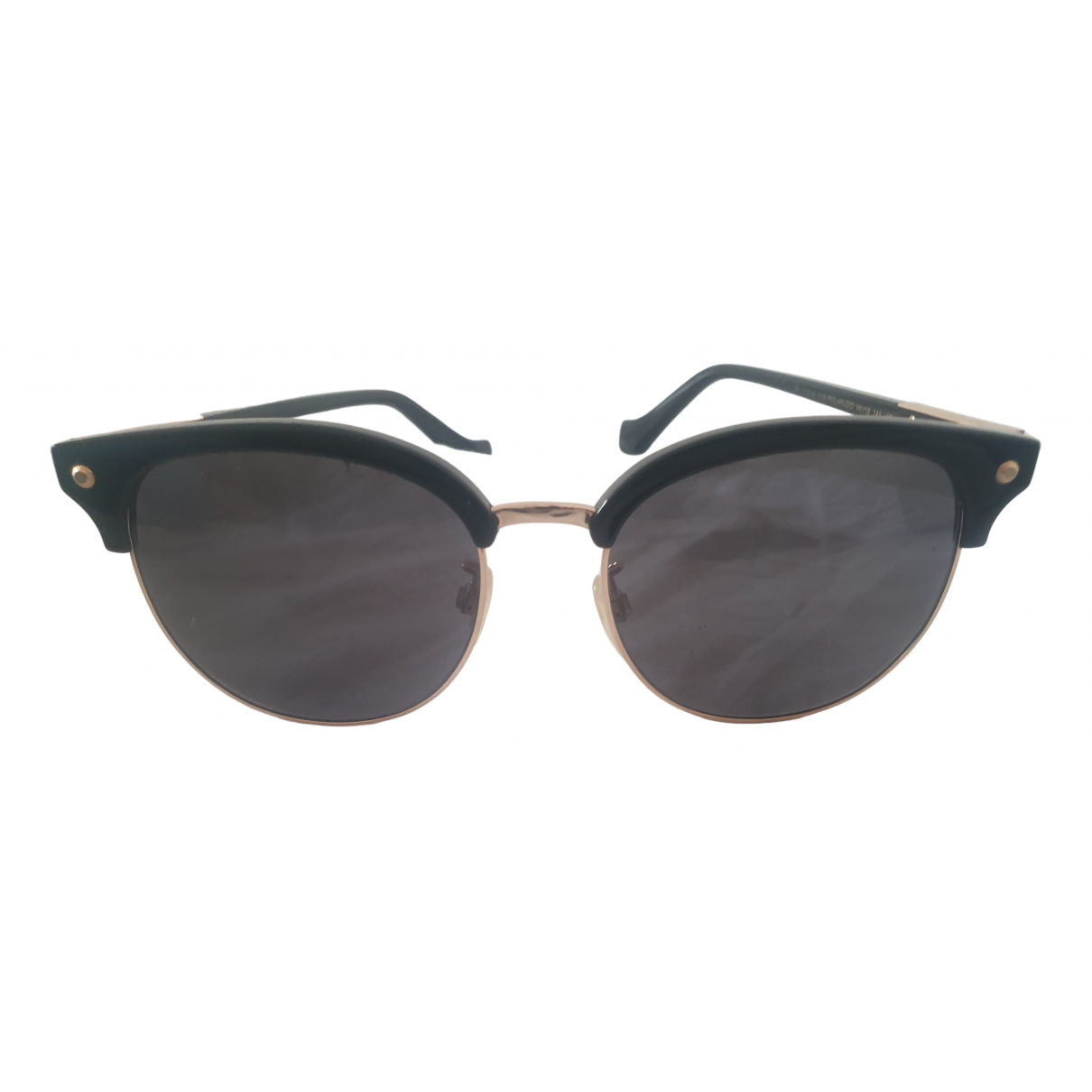 Balenciaga \N Black Metal Sunglasses for Women \N