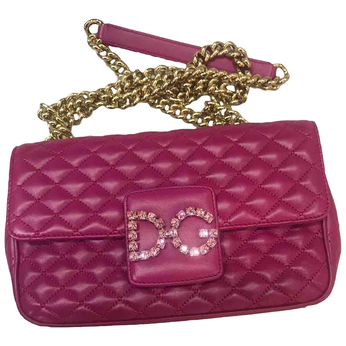 Dolce & Gabbana Millenials Pink Leather handbag for Women \N