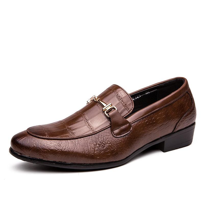 Ericdress PU Low-Cut Upper Round Toe Men's Oxfords