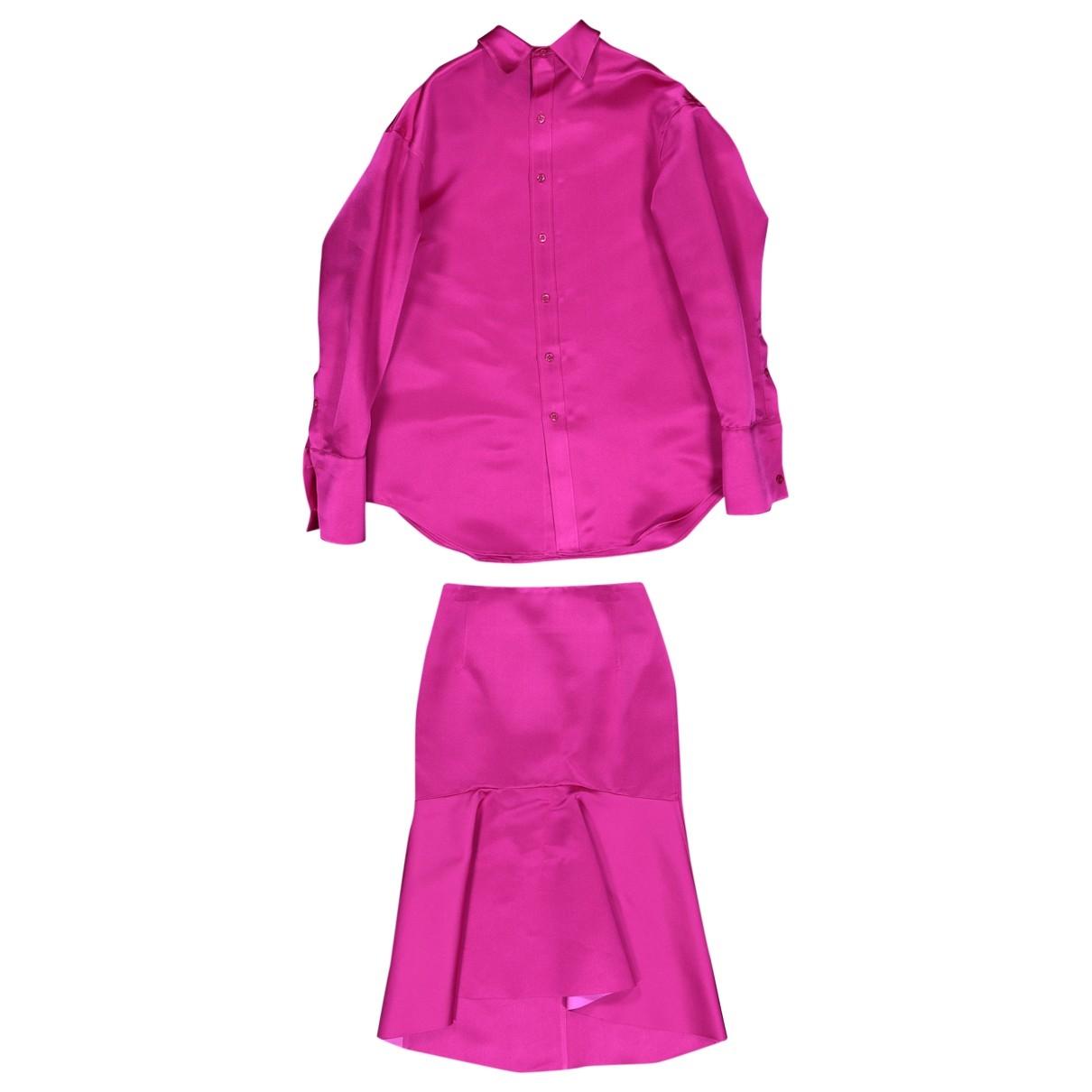 Balenciaga \N Top in  Rosa Seide