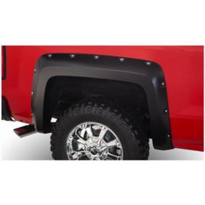 Bushwacker Chevrolet Silverado Pocket Style Rear Fender Flares (Paintable) - 40120-02
