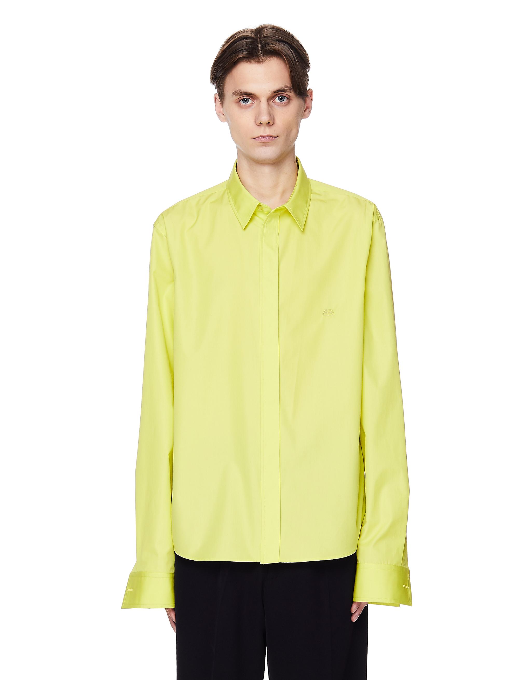 Balenciaga Neon Yellow Cotton Shirt