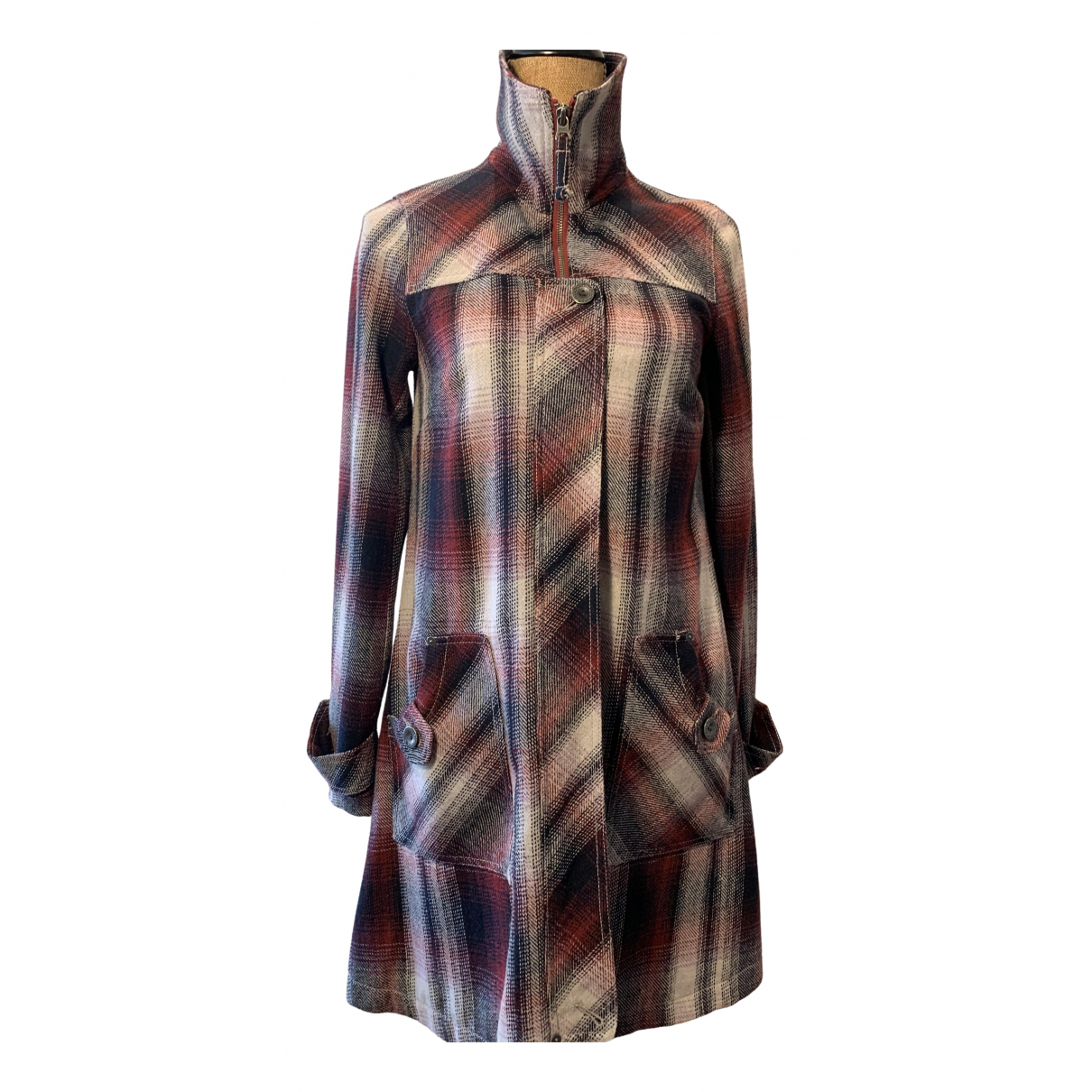Tommy Hilfiger - Manteau   pour femme en laine - multicolore