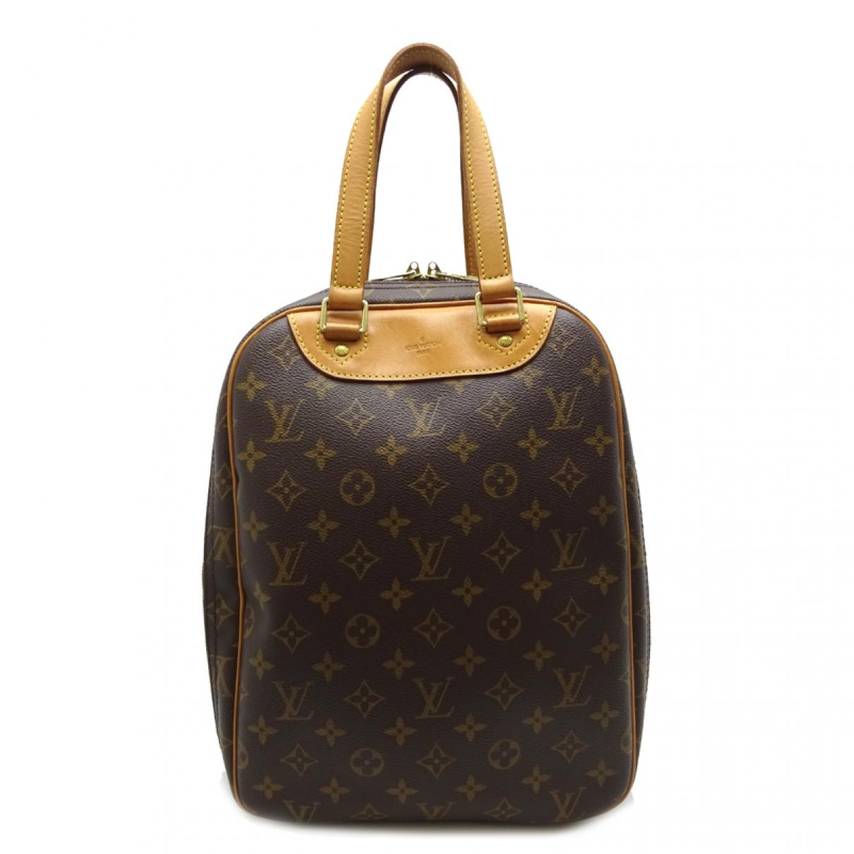 Louis Vuitton - Sac a main Excursion  pour femme en toile - marron