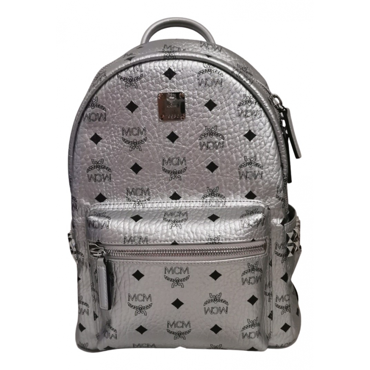 Mcm \N Silver Leather backpack for Women \N