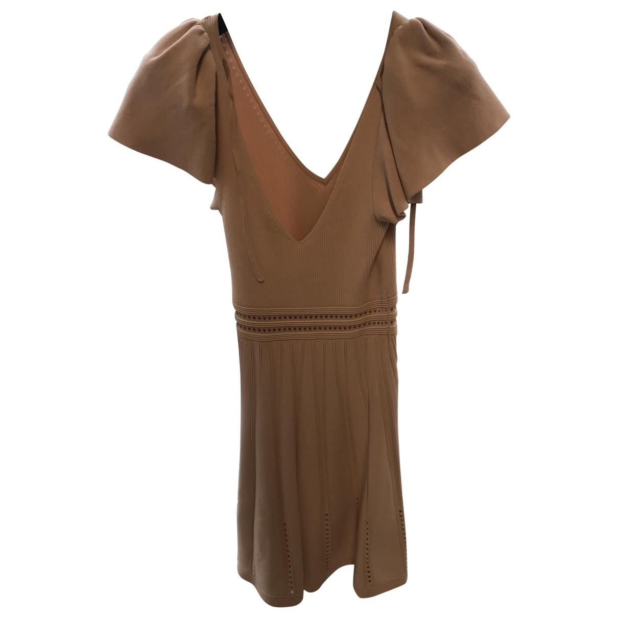 Sandro Spring Summer 2019 Kleid in  Rosa Baumwolle - Elasthan