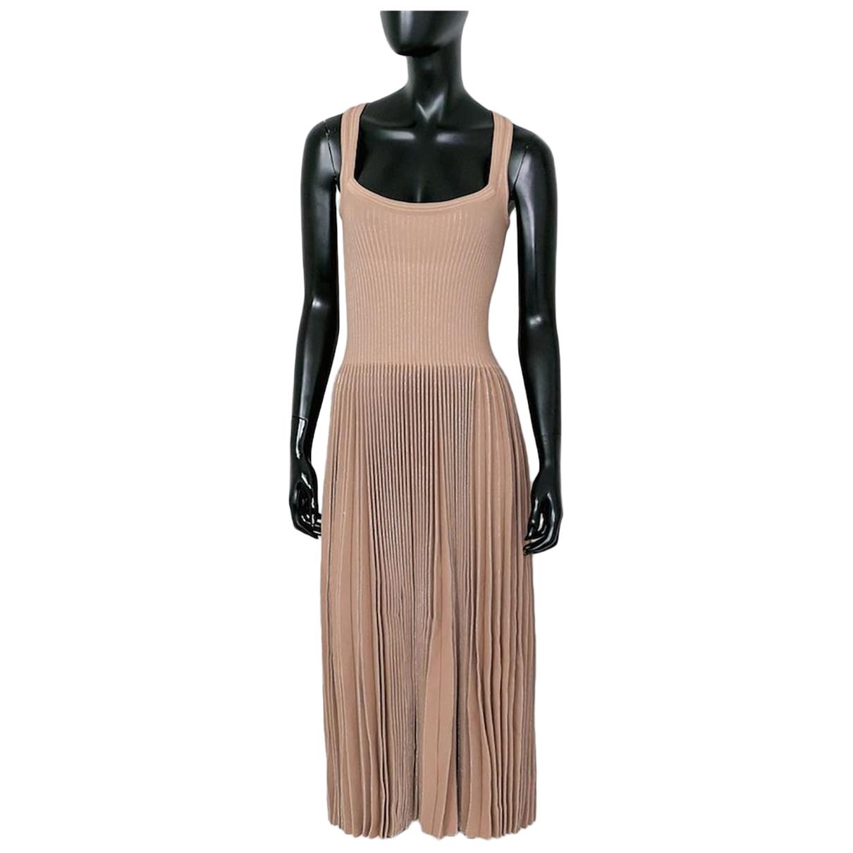 Alaia \N Kleid in  Beige Synthetik
