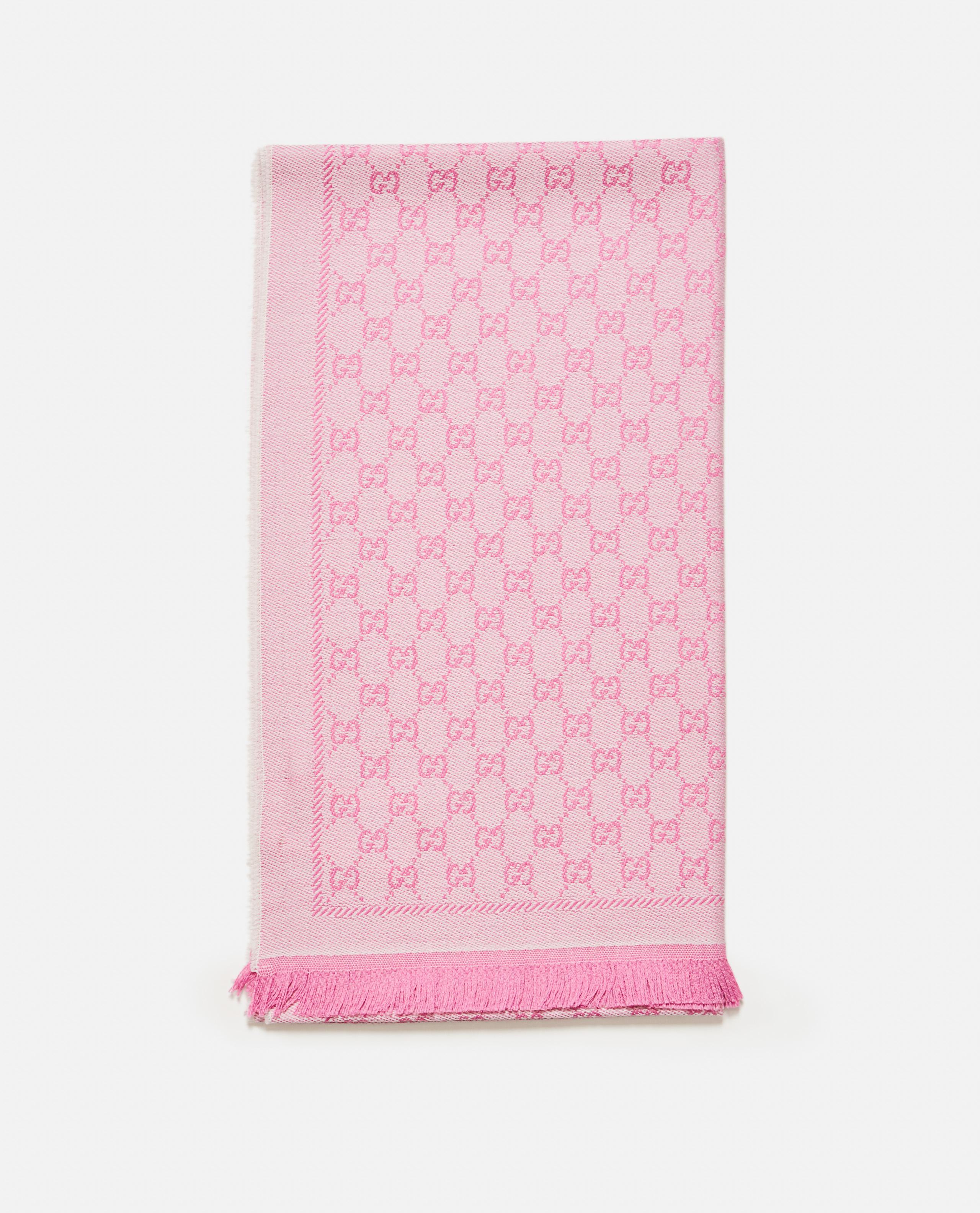Jacquard GG wool scarf