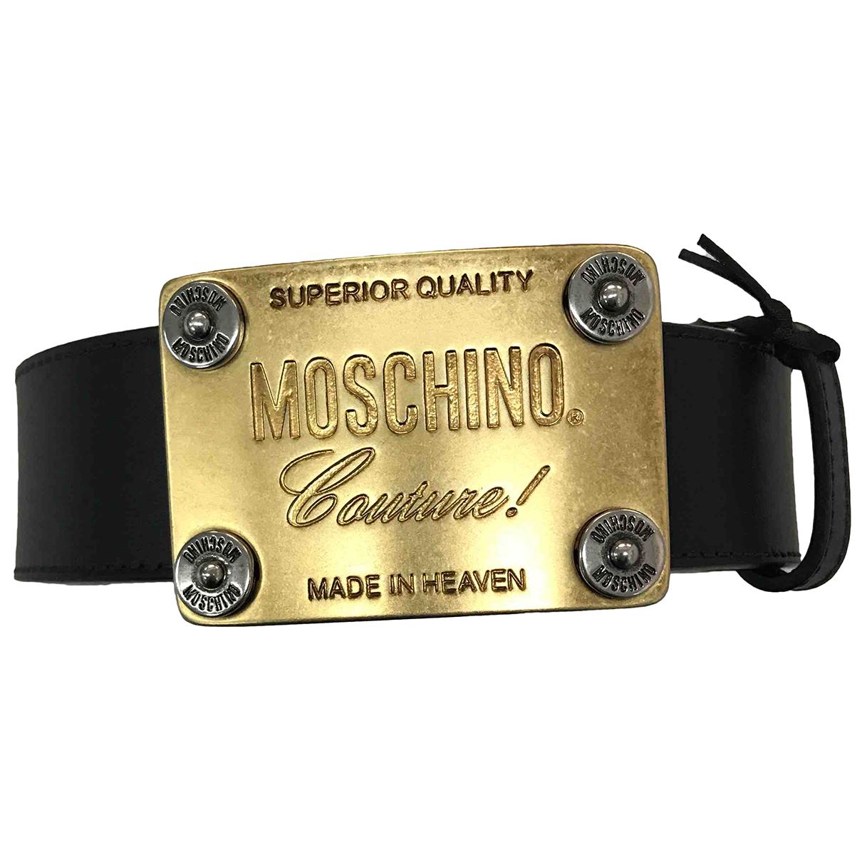 Moschino \N Guertel in  Schwarz Leder