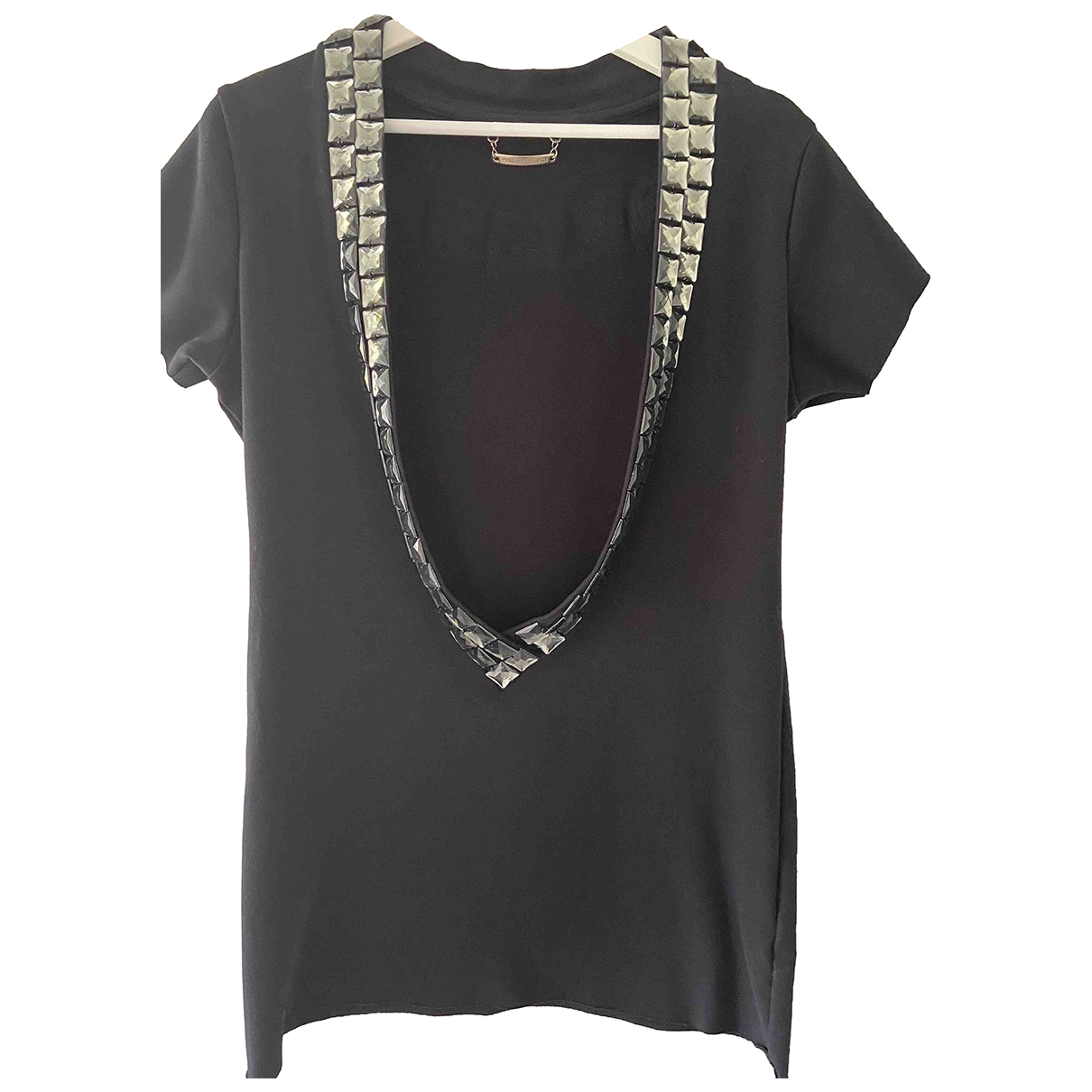 Philipp Plein \N Black Cotton  top for Women L International