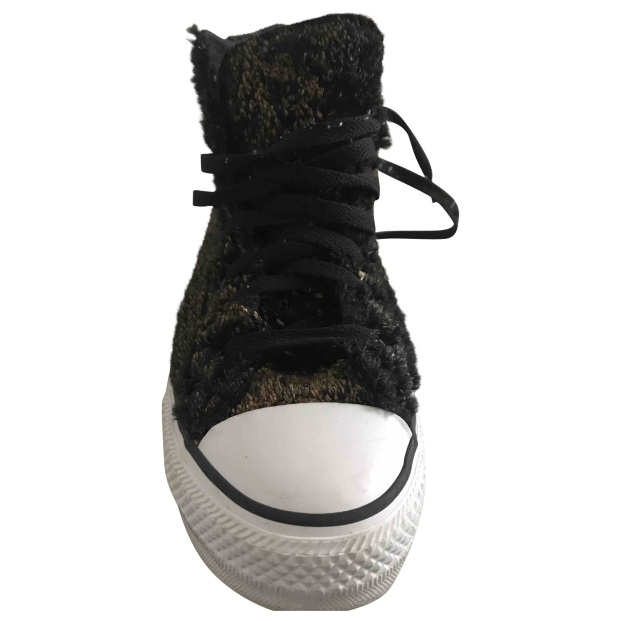 Converse \N Black Faux fur Trainers for Women 41 EU