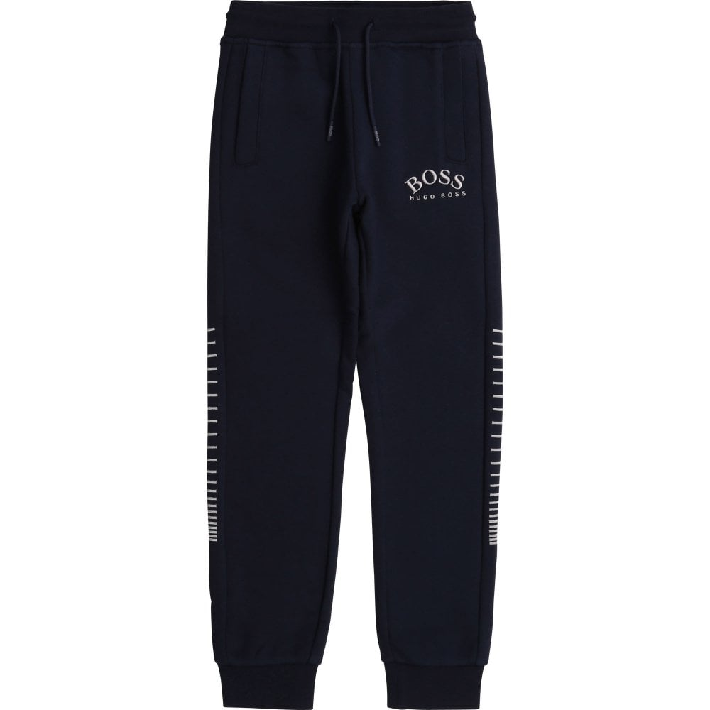 Hugo Boss Cotton Joggers Colour: NAVY, Size: 6 YEARS