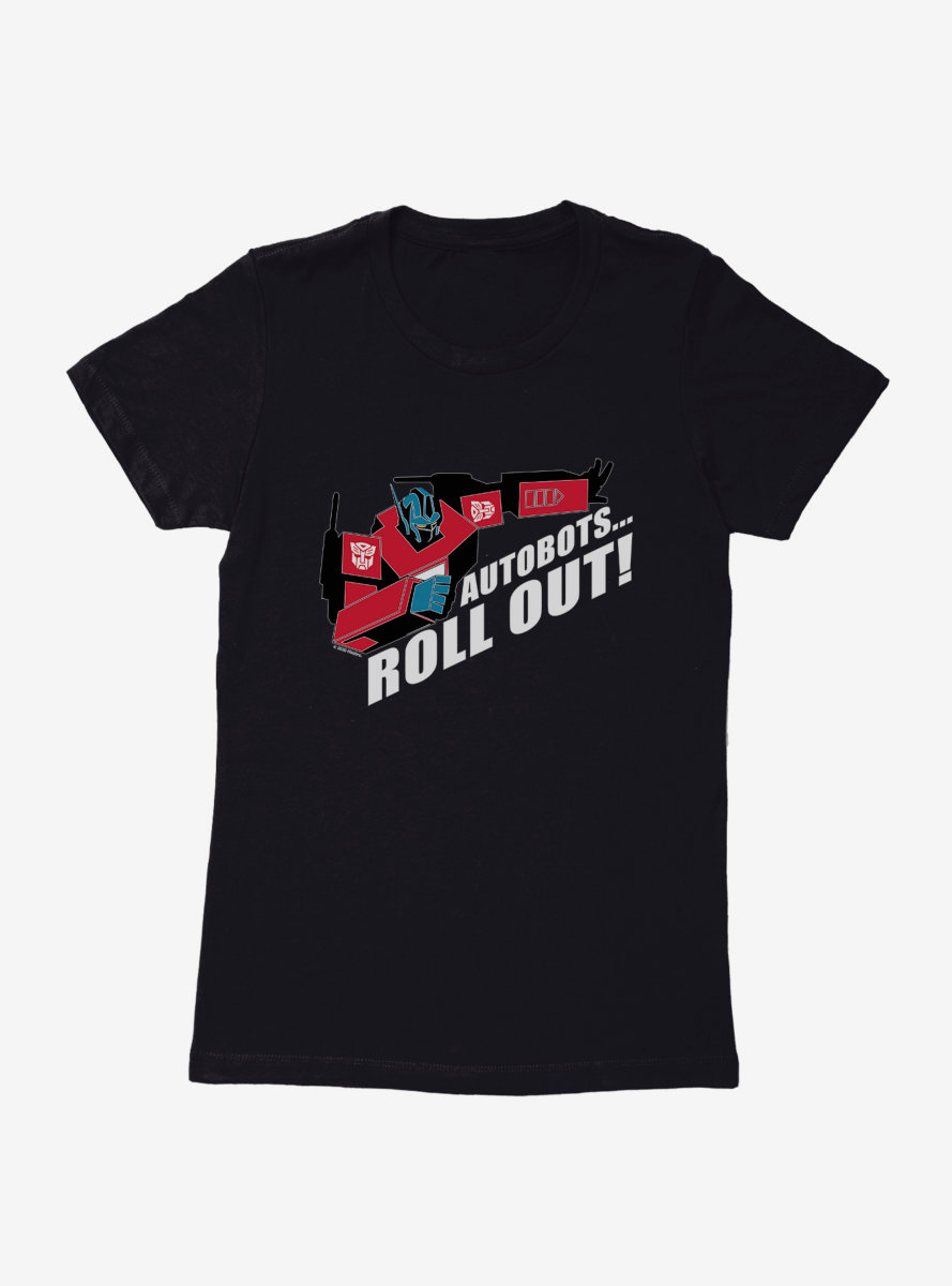 Transformers Roll Out Optimus Womens T-Shirt