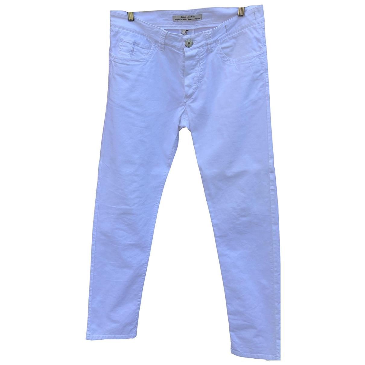 Barba - Pantalon   pour homme en coton - blanc
