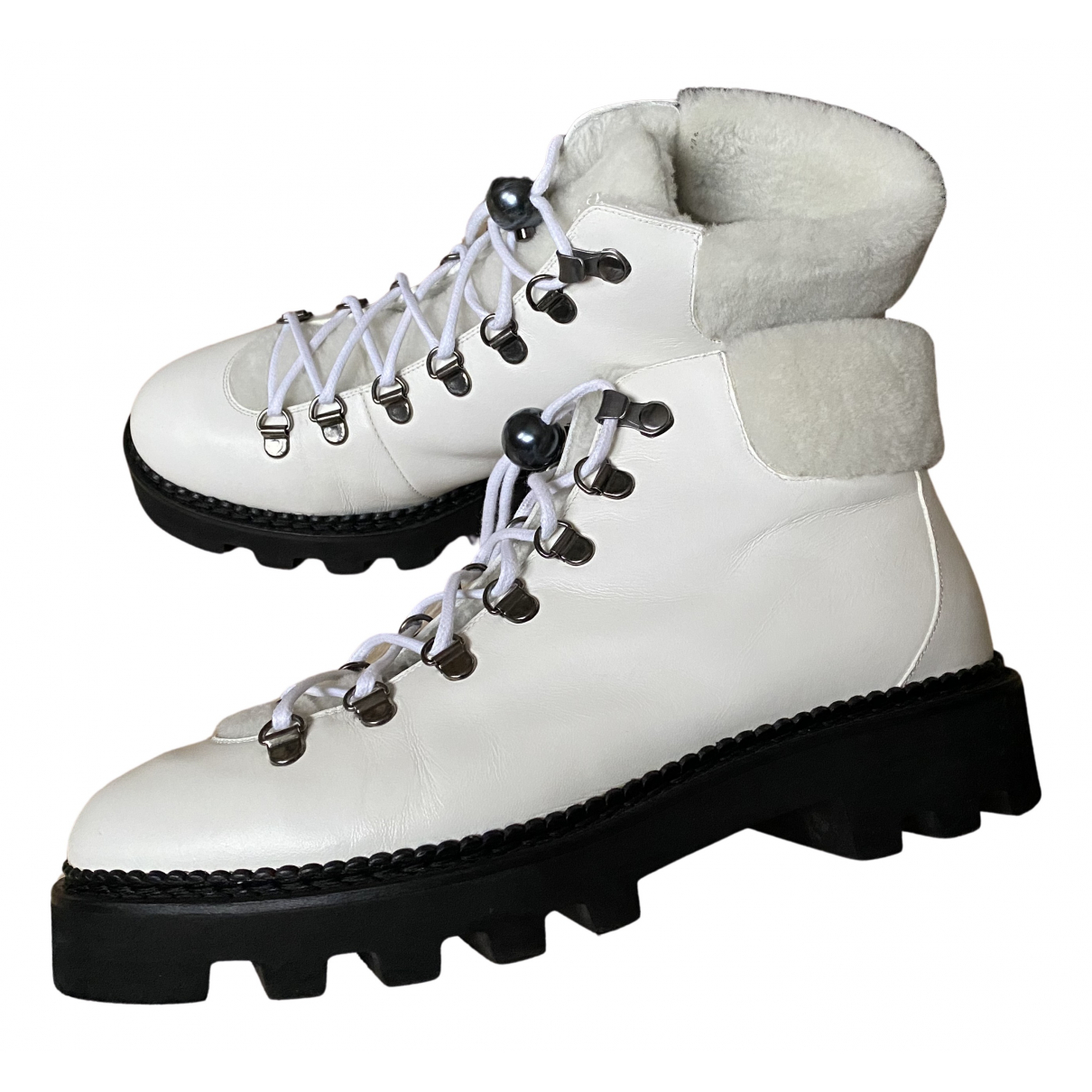 Nicholas Kirkwood N White Leather Ankle boots for Women 40.5 EU