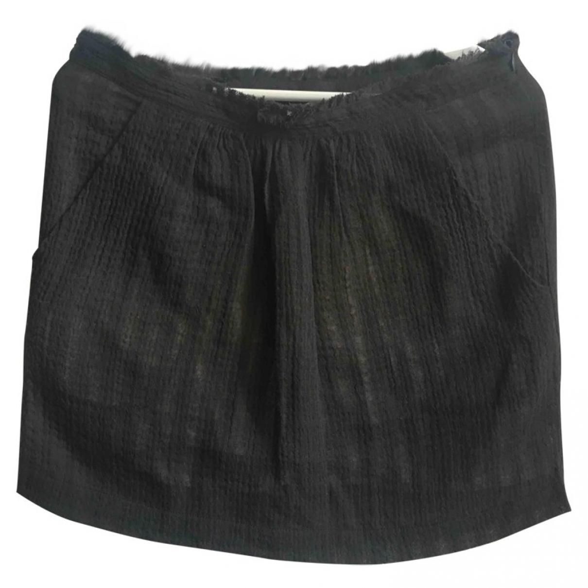 Pomandère \N Brown Wool skirt for Women 44 IT