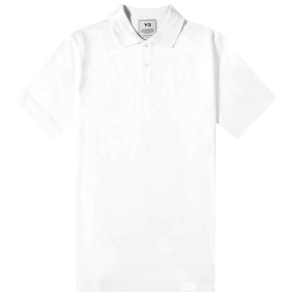 Y-3 Classic Logo Polo Shirt White Colour: WHITE, Size: LARGE