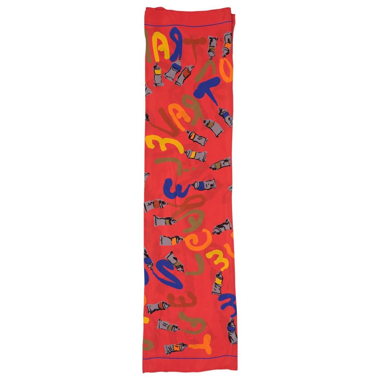 Louis Vuitton \N Tuecher in  Rot Seide