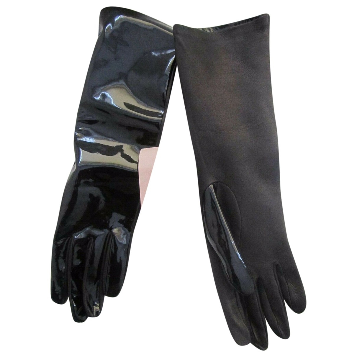 Christopher Kane \N Black Patent leather Gloves for Women M International
