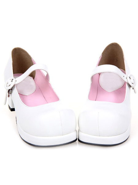 Milanoo Zapatos Lolita Dulce Tacones Gruesos Cuadrados Platforma