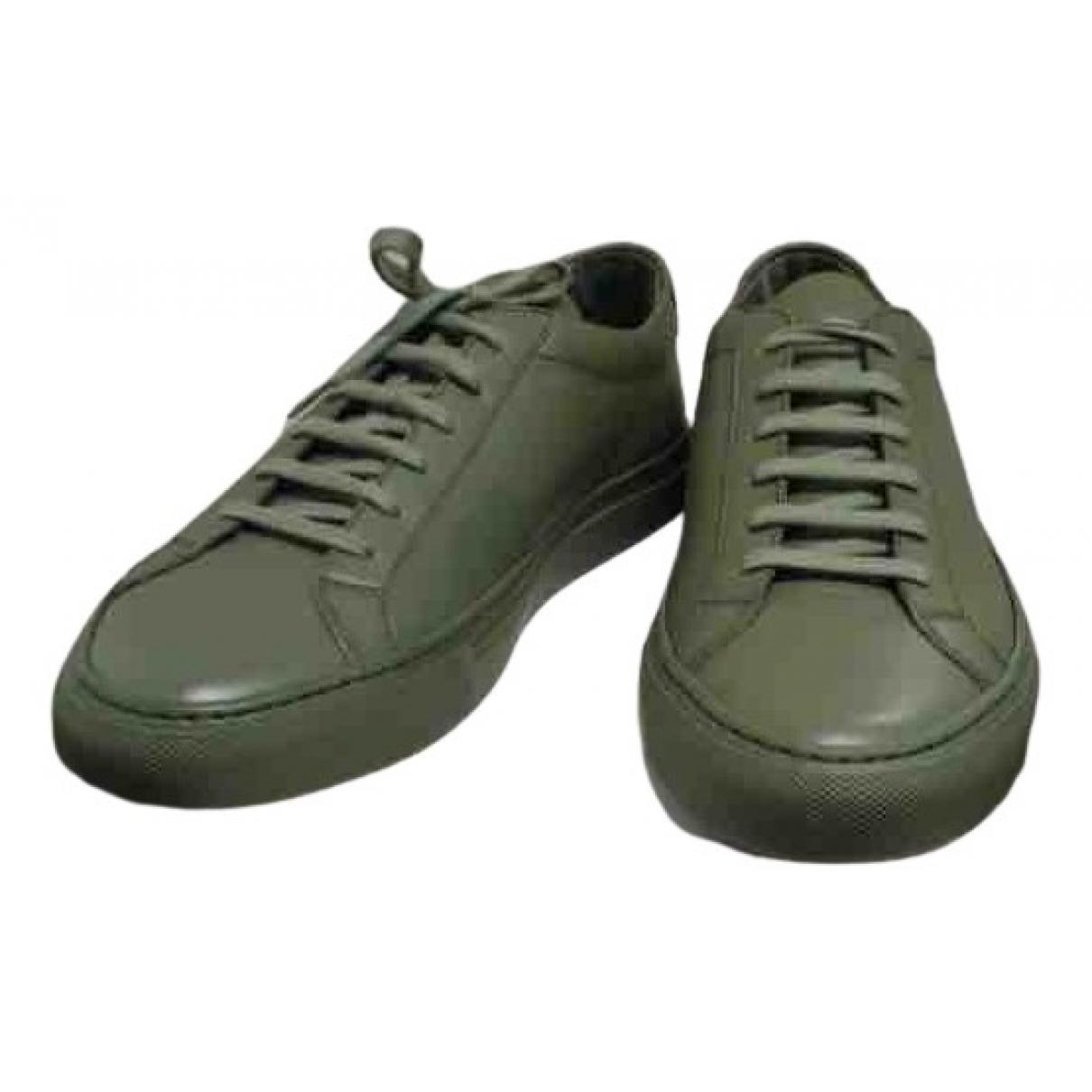 Common Projects \N Sneakers in  Gruen Leder