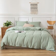 Solid Color Bedding Set Without Filler
