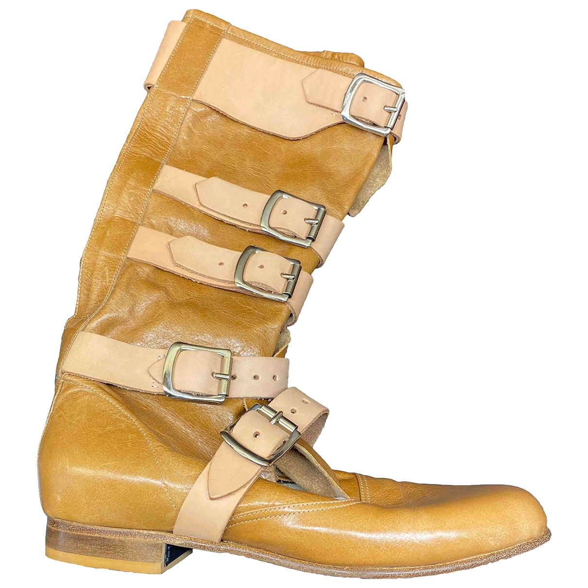 Vivienne Westwood - Bottes   pour femme en cuir - beige
