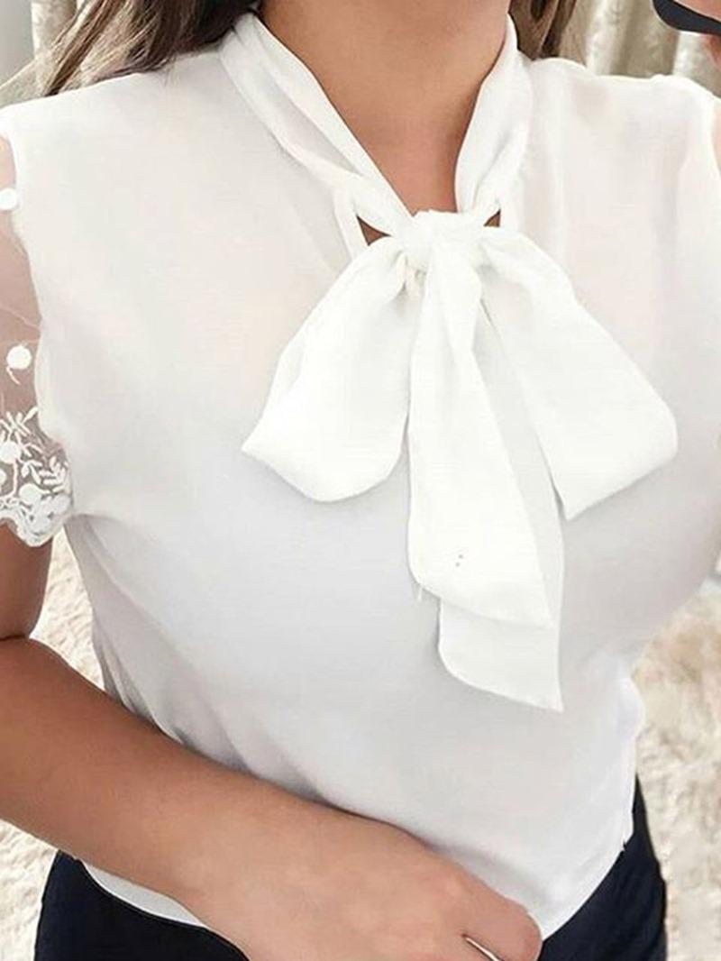 Ericdress Plain Short Sleeve Standard Blouse