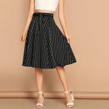 High Waist Striped Skirt