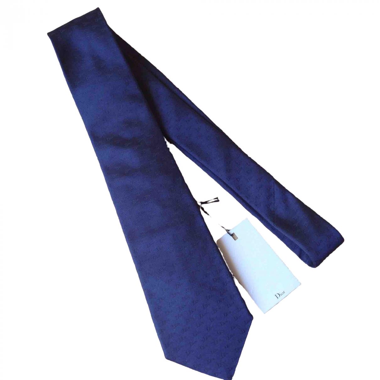 Dior Homme - Cravates   pour homme en soie - marine
