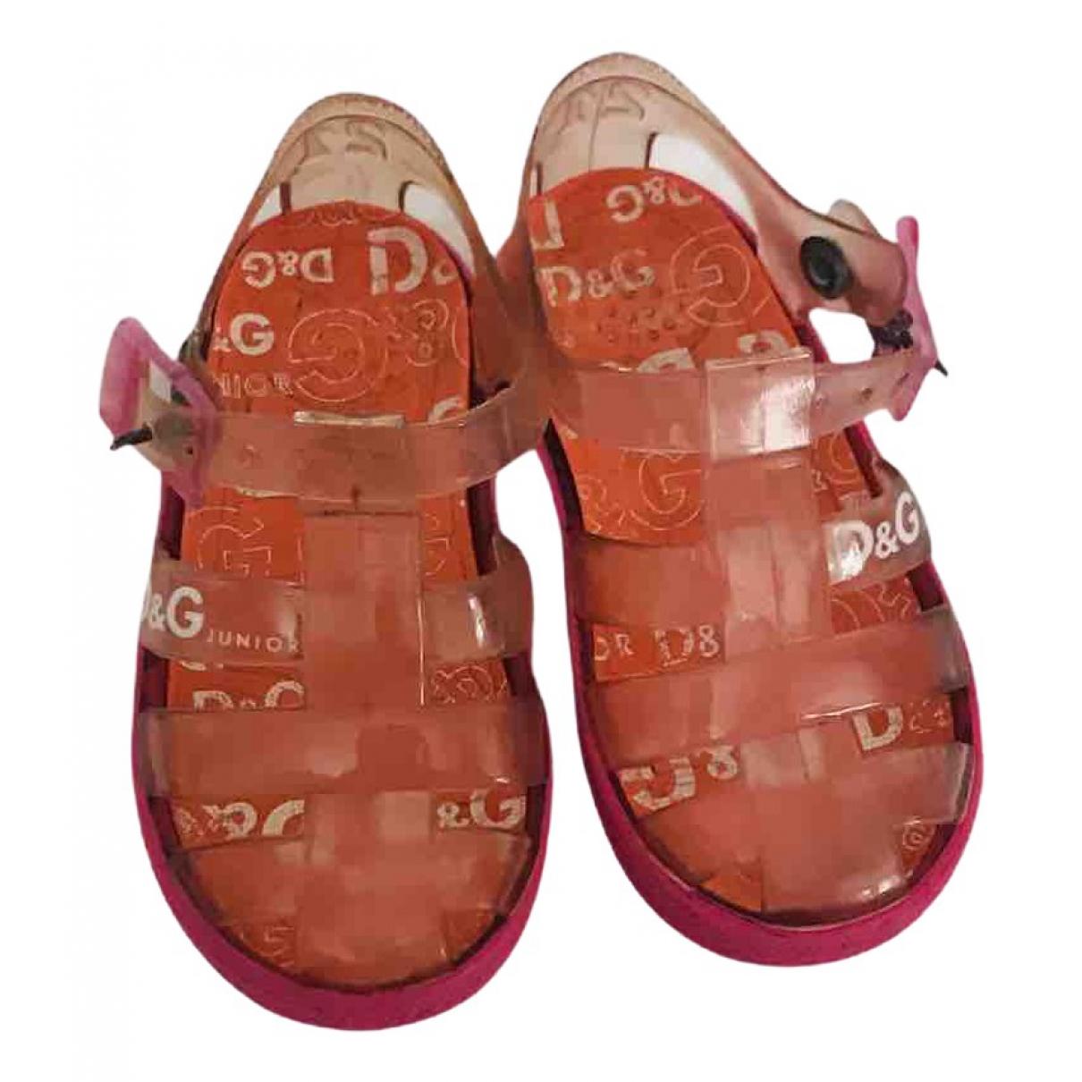 D&g \N Sandalen in  Rosa Kunststoff