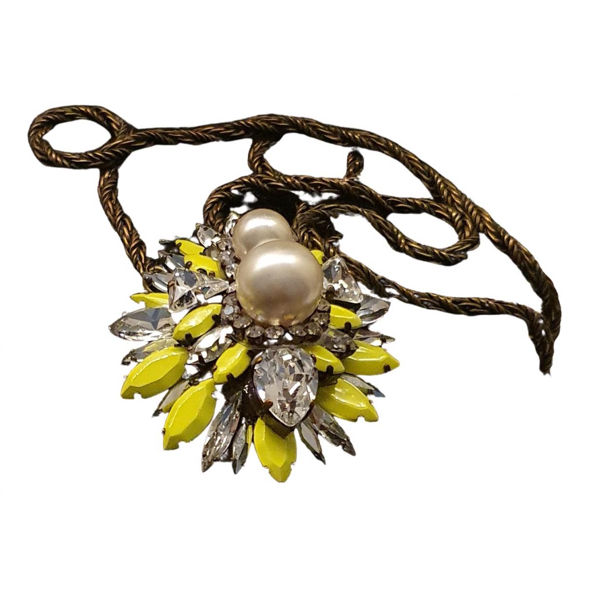 Shourouk - Collier   pour femme en cristal - jaune