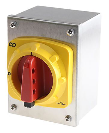Craig & Derricott 3 Pole Enclosed Non Fused Isolator Switch - 63 A Maximum Current, 30 kW Power Rating, IP65