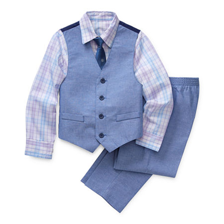 Van Heusen Little & Big Boys 4-pc. Suit Set, 6 , Blue