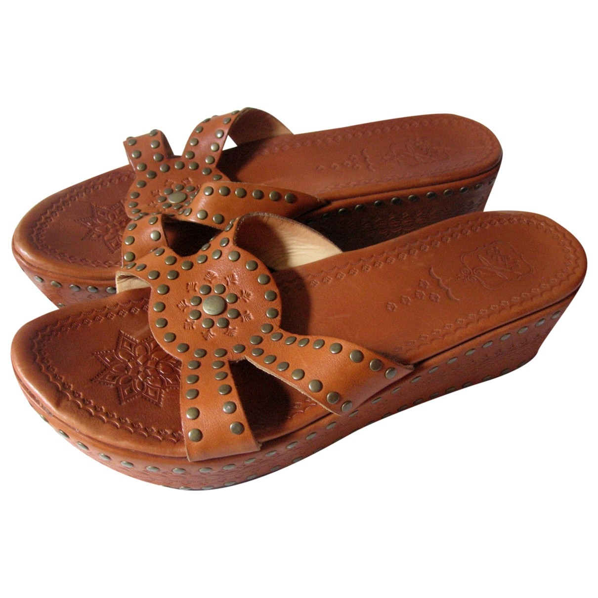 Ash \N Brown Leather Sandals for Women 40 EU