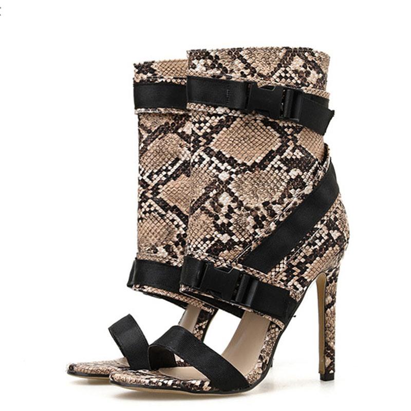 Ericdress Zipper Stiletto Heel Heel Covering Patchwork Sandals