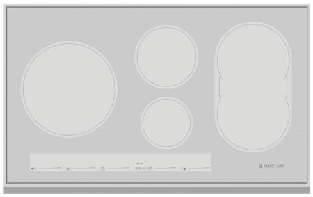 KIC36-MS 36 Built-In Induction Cooktop with 5 Energy Efficient Elements  Slide Touch Controls  Low Simmer  and Warm Function  in Metallic