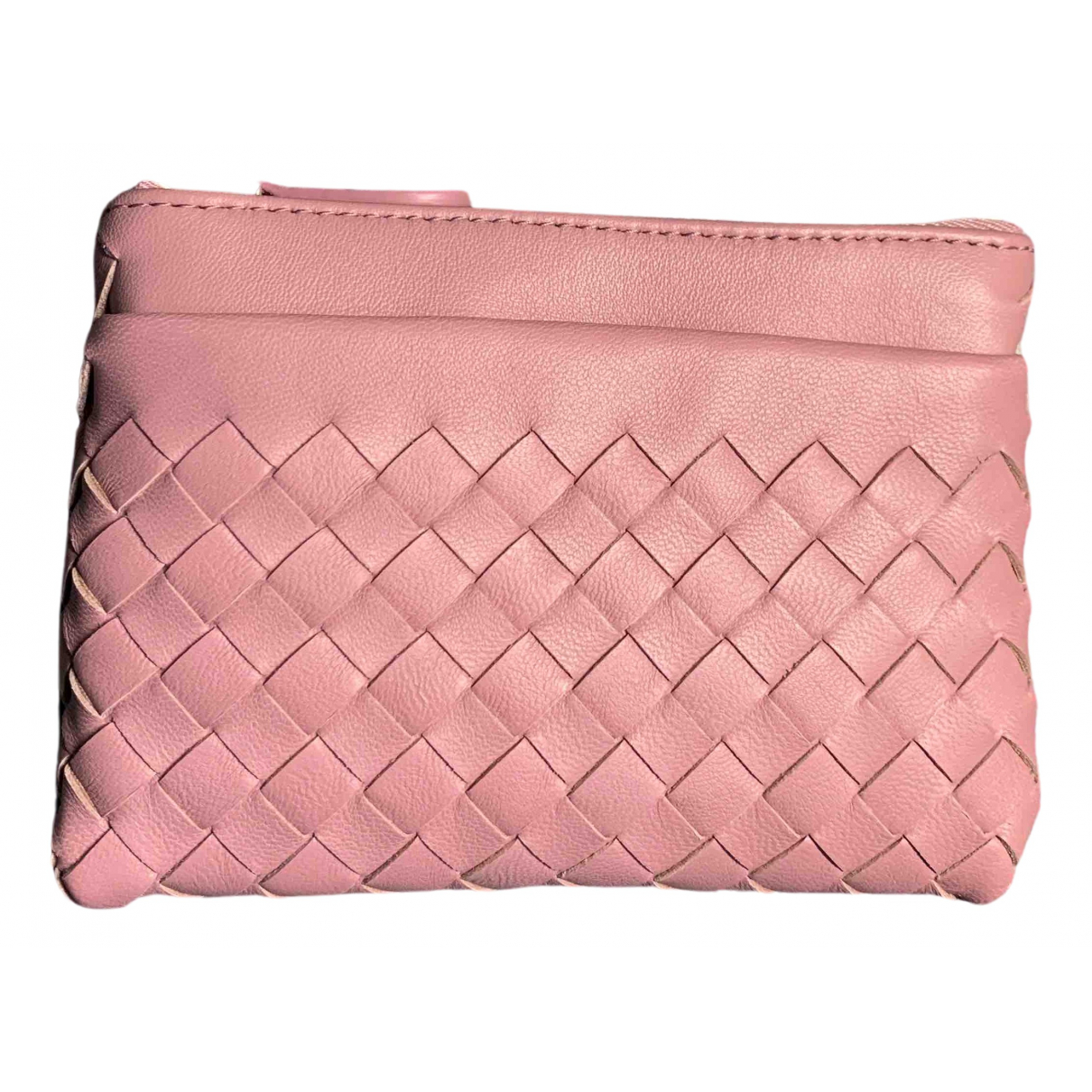 Bottega Veneta \N Kleinlederwaren in  Rosa Leder
