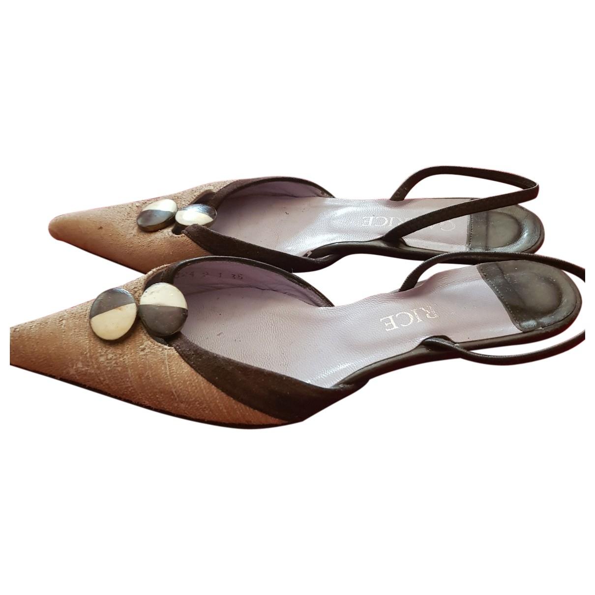 Garrice - Sandales   pour femme en toile - camel