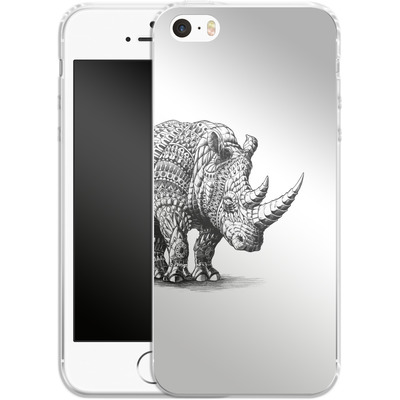 Apple iPhone 5s Silikon Handyhuelle - Rhinoceros von BIOWORKZ