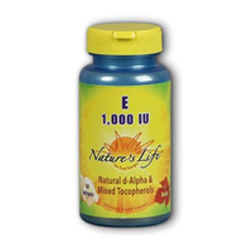 Vitamin E d-Alpha & Mixed Tocopherols 50 softgels by Natures Life