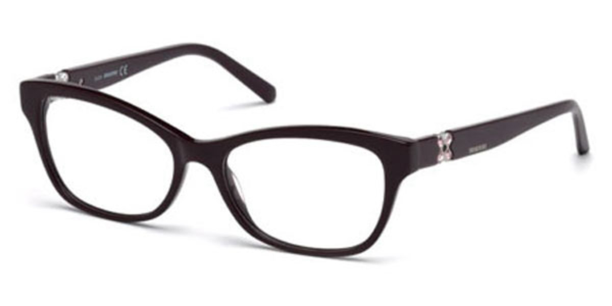 Swarovski SK5219 081 Women's Glasses Violet Size 52 - Free Lenses - HSA/FSA Insurance - Blue Light Block Available