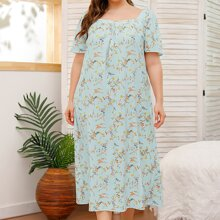 Plus Ditsy Floral Night Dress