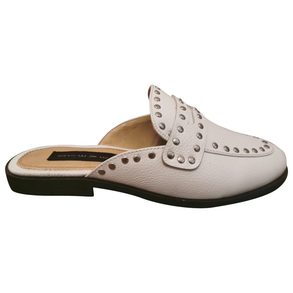Steve Madden \N White Leather Flats for Women 36 EU