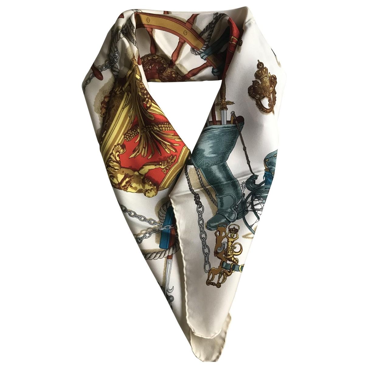 Hermès Carré 70 Ecru Silk Silk handkerchief for Women \N