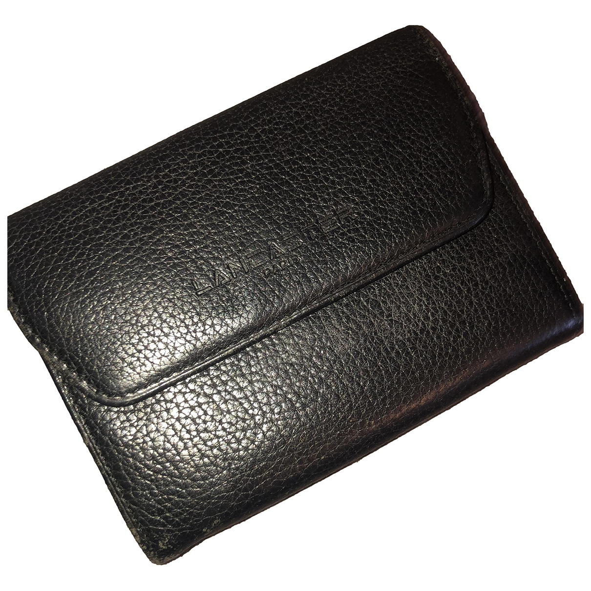 Lancaster - Portefeuille   pour femme en cuir - noir