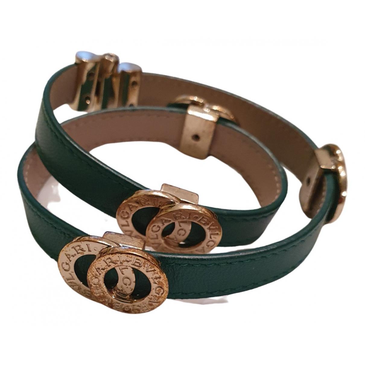 Bvlgari - Bracelet Bulgari Bulgari pour femme en cuir - vert