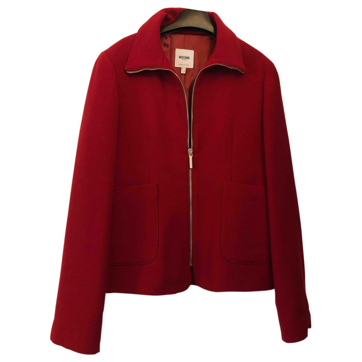 Moschino \N Jacke in  Rot Wolle